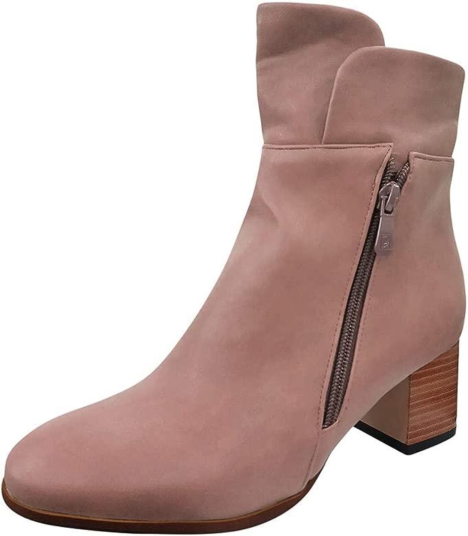 Darringls Botines para Mujer, Zapatillas Botines Botas de ...