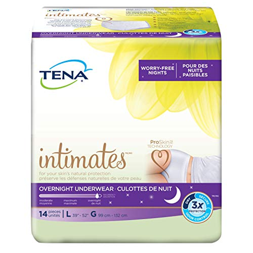 Tena Incontinence Underwear For Women, For Overnight, Large (Pack of 4)