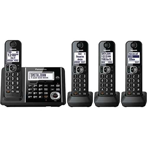 Panasonic+KX-TGF344B+DECT+6.0+1.9+GHz+Expandable+Digital+Cordless+Phone+(4+Handsets)