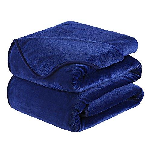 HOZY Fleece Blanket Queen Size Luxury Super Soft Warm Fuzzy