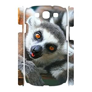 ALICASE Cover Case Lemur 3D Diy For Samsung Galaxy S3 I9300 [Pattern-1] Kimberly Kurzendoerfer