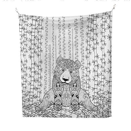 25 Home Decor Tye dye Tapestries Bamboo Panda Coloring Page Greatful Dead Tapestries 70W x 84L INCH