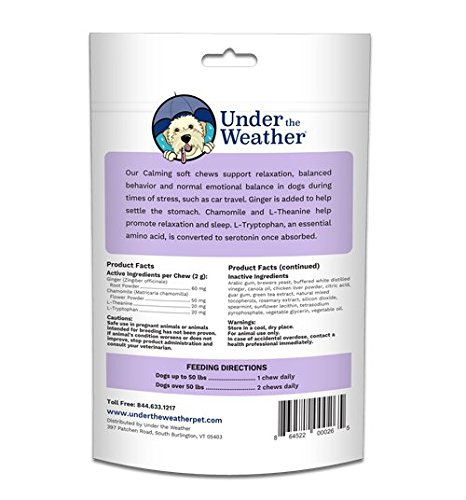 Under the Weather Calming Soft Chews for Dogs (60 count pack)