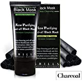 SHILLS Blackhead Remover,Pore Control, Skin Cleansing, Purifying Bamboo Charcoal, Peel Off Facial Black Mask, Peel Activated Black Mud Oily Skin peel-off Deep cleaning mask Acne Facial cleansing gel