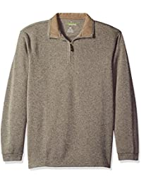 Haggar Men's Long-Sleeve In-Motion Soft Brushed Back...