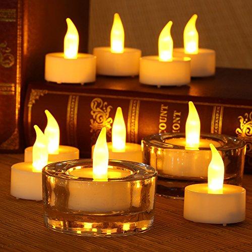 12pcs Flameless LED Tea Light Candles Battery Power Flicker Xmas Wedding Party Decor