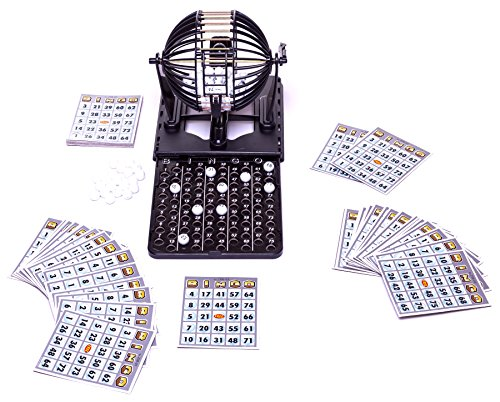 Game Deluxe Cage Bingo (Deluxe Bingo Set with 60 Cards, 96 Bingo Balls - Limited Edition)