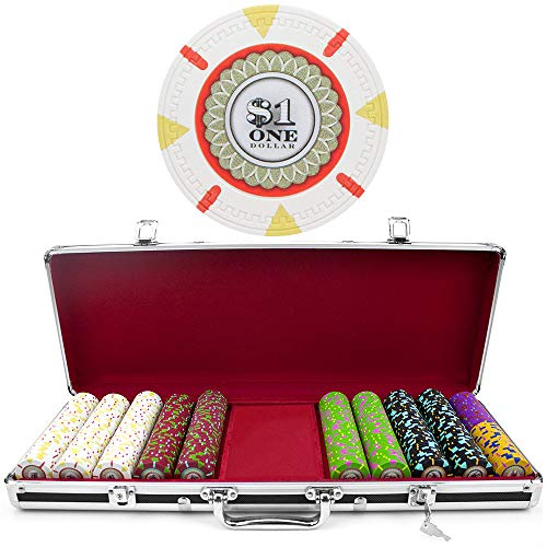 (500 Ct Milano Poker Chip Set by Claysmith Gaming in Black Aluminum Case)