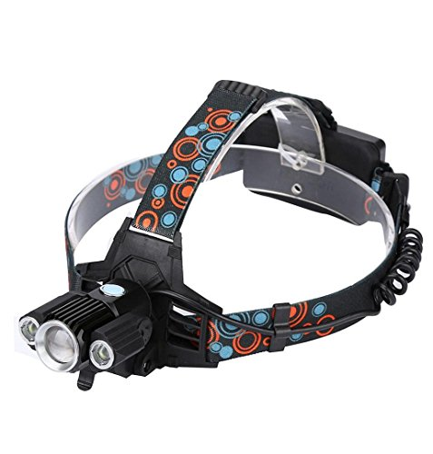 Rechargeable USB Headlamp,Crystell 50000LM 5x XM-L T6 LED Head Light Zoomable/Aluminum/Rechargeable Battery by Crystell