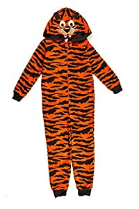 Dots & Dreams Kids Orange Tiger Hooded onesie