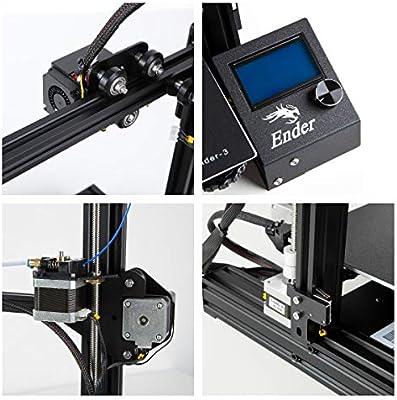 LOKE Impresora 3D Ender 3 3D escáner de Aluminio de Bricolaje con ...