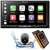 "Pioneer AVH-W4500NEX Double DIN Wireless Mirroring Android Auto, Carplay In-Dash DVD/CD Car Stereo Receiver, 7"" Touchscreen + HD Backup Camera + Magnet Phone Holder, BLACK, AVH4200NEX"