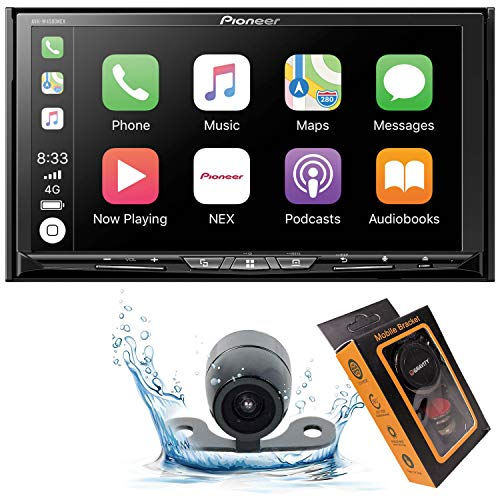 Pioneer AVH-W4500NEX Double DIN Wireless Mirroring Android Auto, Carplay In-Dash DVD CD Car Stereo Receiver, 7 Touchscreen HD Backup Camera Magnet Phone Holder