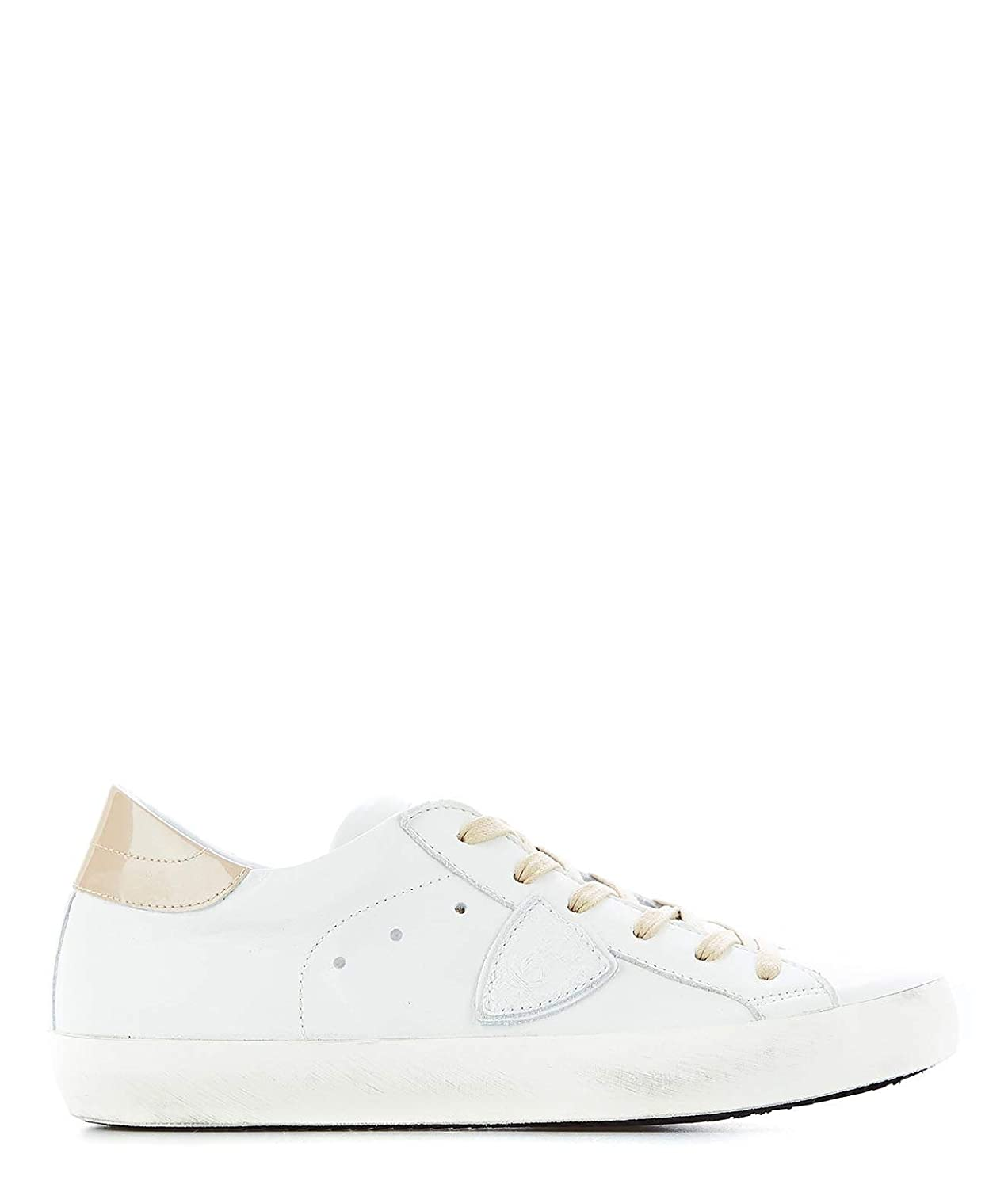 - PHILIPPE MODEL Women's CLLD1004 White Leather Sneakers