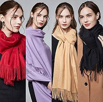 The Fabric Station Kaschmir Pashmina Wolle Winter Schal Wrap f/ür Frauen Lange Gro/ße Dicke in 20 Farben