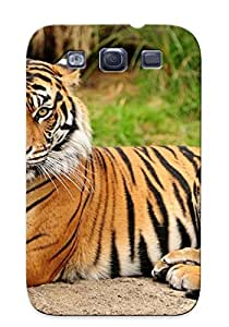 New Tpu Hard Case Premium Galaxy S3 Skin Case Cover(Animal Tiger) For Christmas Gift