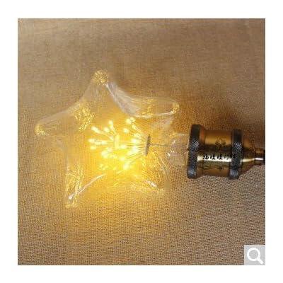 2x Vintage Edison Ampoule E27bulbled Arbre Vis Super Star Bar KTV Retro Source de lumière g95,6, LED Super Star Pentacle, le chaud jaune