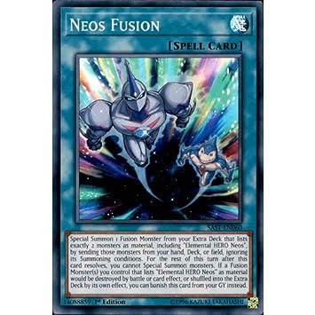 1st Edition - Super Rare SAST-EN060 Neos Fusion