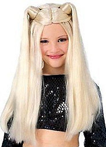 [My Little Rock Star Long Blonde Costume Wig] (Kids Rock And Roll Costume)