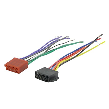 510QaMpjzuL._SY463_ amazon com male universal iso radio wire wiring harness adapter wiring harness adapter at reclaimingppi.co