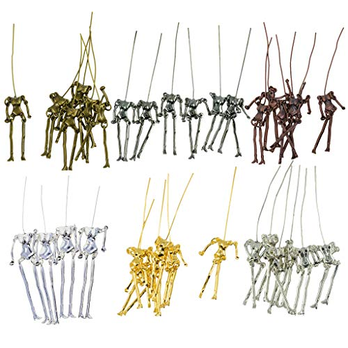 - SM SunniMix 34 Pieces/Set Jewelry Making Charms Human Skeleton Body Pendant DIY Doll Necklace Crafts