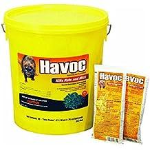 Neogen Havoc 116372 - 40 Piece 2 Pack 50 Gram Rat Poison Pellets In Pail