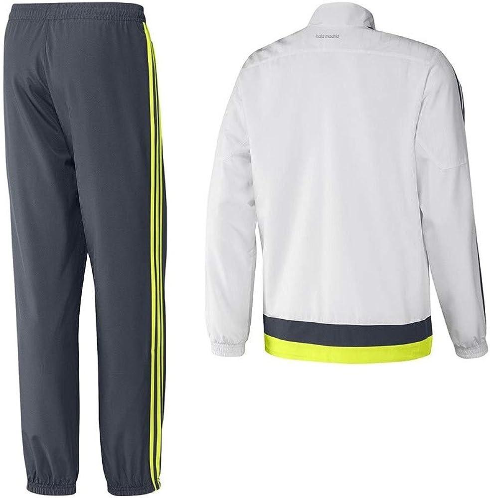 adidas Real Pr Suit YC - Chándal para niño, Color Blanco/Gris/Lima ...