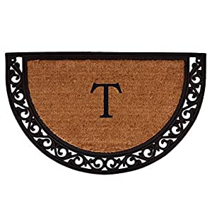 Home & More 100101830T Ornate Scroll Monogram Doormat 18-Inch X 30-Inch (Letter T)