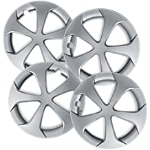 OxGord Hub-Caps for Select Toyota Prius (Pack of 4) 15 Inch Silver Wheel Covers