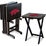 IMPERIAL INTERNATIONAL ARKANSAS RAZORBACKS TV TRAYS w/ STAND