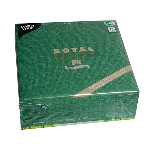 Look Napkins - Linen-like PAPER Disposable Napkins, 50 Pack, Premium Quality, looks and feels like Cloth, Royal Collection,