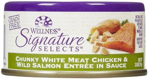 Wellness Signature Selects Chunky Chicken & Wild Salmon - Wellness Dog Food Seafood