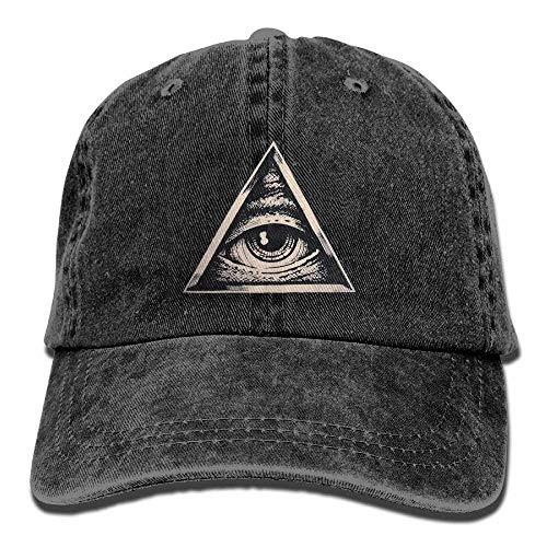 Men Hat for Hats Women All Cowboy Skull Cap Cowgirl DEFFWB Eye Triangle Sport Denim Seeing Oqnd1