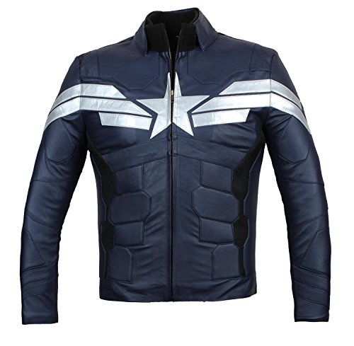 BlingSoul Superhero Halloween Costume Jacket - Mens Cosplay Leather Jackets