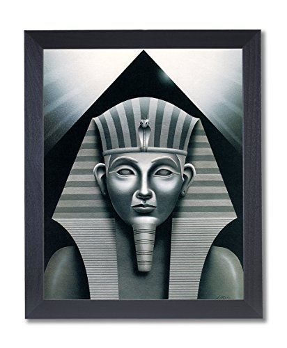 Egyptian Sphinx And Pyramid Wall Decor Picture Black Framed Art