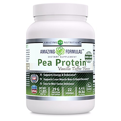Amazing Formulas 100% Pure Protein Dietary Supplement - 2 lbs. - Vanilla Flavor -Supports Energy Production and Muscle Growth - Promotes Heart and Kidney Function