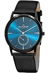 Skagen Men's 958XLBLN Steel Steel Black Blue Watch