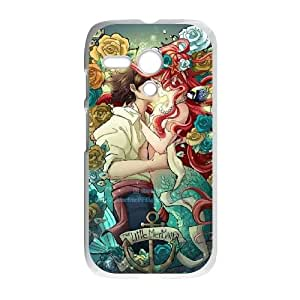 Motorola G Cell Phone Case White_Disney the little mermaid Ariel_008 Poykz
