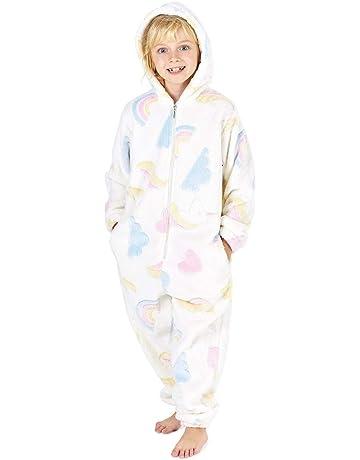 Girls Cow Onezee Nightsuit Sleepwear Pyjama Hooded Fleece Novelty Fancy Dress