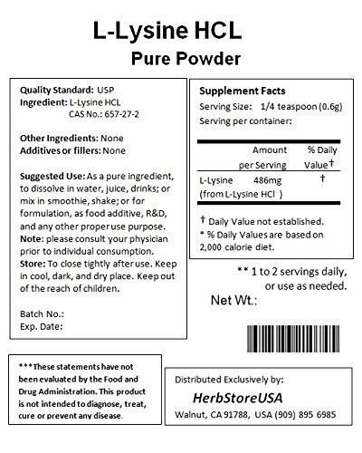 NuSci L Lysine HCl Lysine Pure Powder