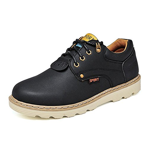 Men's Shoes Feifei Winter Retro Leisure Wear-Resistant Non-Slip Leather Shoes 4 Colors (Color : 01, Size : EU40/UK7/CN41)