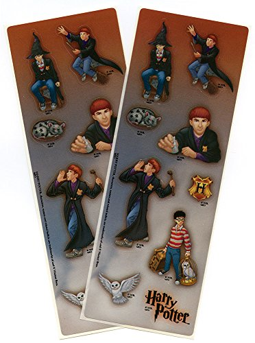 Harry Potter Stickers with Harry & Ron Weasley & - House Hat Sorting Hogwarts