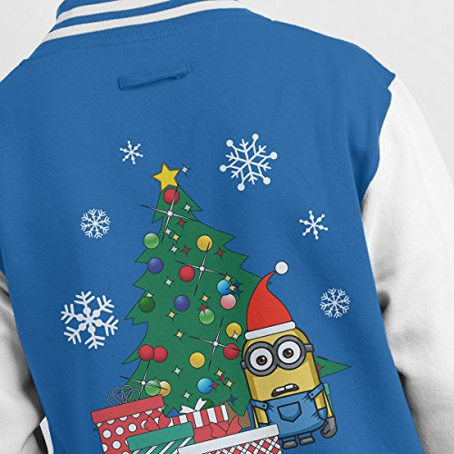 Christmas Jacket Men's Gifts Varsity white The Royal Tree Minion Under 10qUxwOxt
