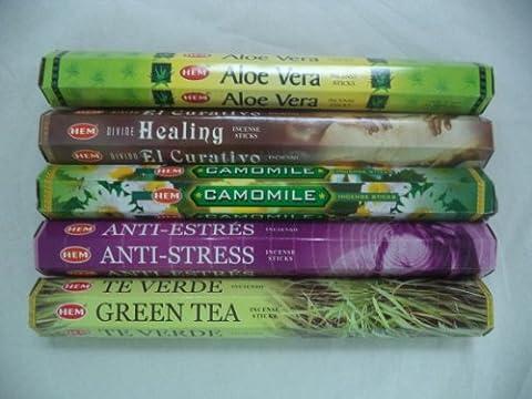 Hem Incense Sticks Healing Set 5 x 20 Sticks, 100 Total - Incense Set