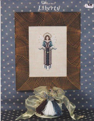 Just Nan Liberty Angel Cross Stitch Pattern Chart (Angel Cross Stitch Pattern)