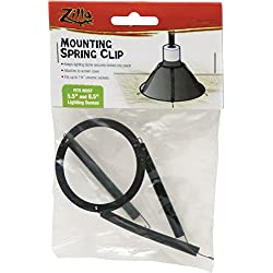 Zilla Reptile Terrarium Heat Lamps & Habitat Lighting Dome Spring Clip