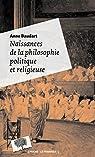 Naissances de la philosophie politique et religieuse par Baudart