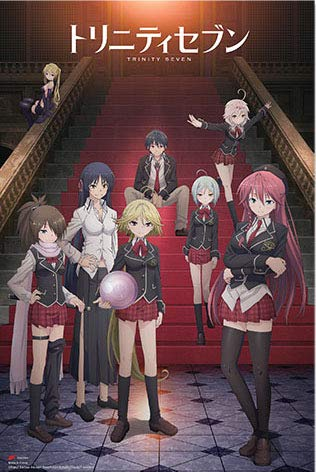 (Trinity Seven School Girl Uniform Stairs 24 in x 36 in Poster Fantasy Anime Out of Print)