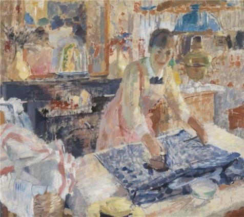 'Rik Wouters - Ironing Woman, 1912' Oil Painting, 18x20 Inch / 46x51 Cm ,printed On Perfect Effect Canvas ,this Cheap But High Quality Art Decorative Art Decorative Prints On Canvas Is Perfectly Suitalbe For Kitchen Gallery Art And Home Gallery Art And Gifts