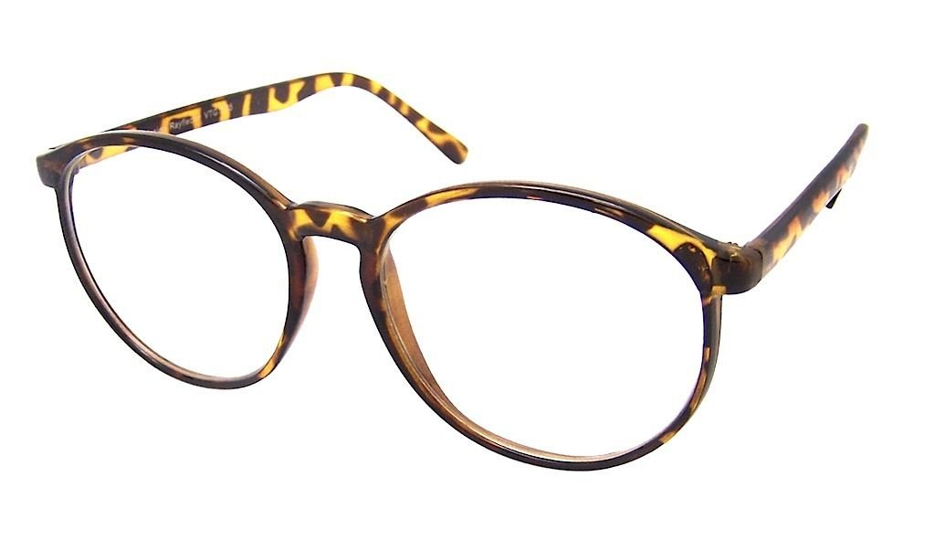 619b51c401 Tortoieshell Tall Round Thin Frame Men Women Clear Lens Glasses VTG 50 s   Amazon.co.uk  Sports   Outdoors